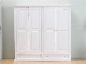 Witte kledingkast 4-deurs Rico