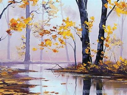 Oil Painting Wallpapers Autumn Desktop Paintings Background