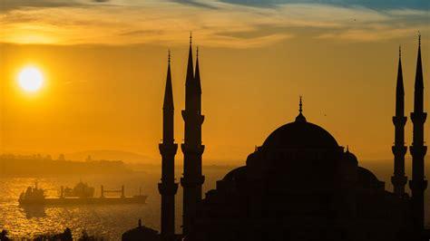 sunnset  istanbul sultan ahmed mosque turkish  ultra hd tv wallpaper  desktop laptop