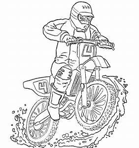 coloriage moto enfant les beaux dessins de transport a With mini flasher