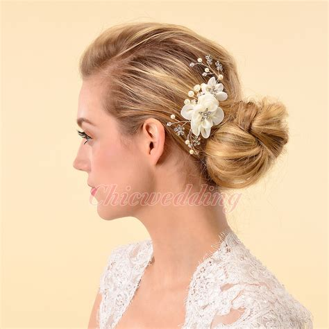 Bridal Accessories by Bridal Hair Comb Silk Flower Headpiece