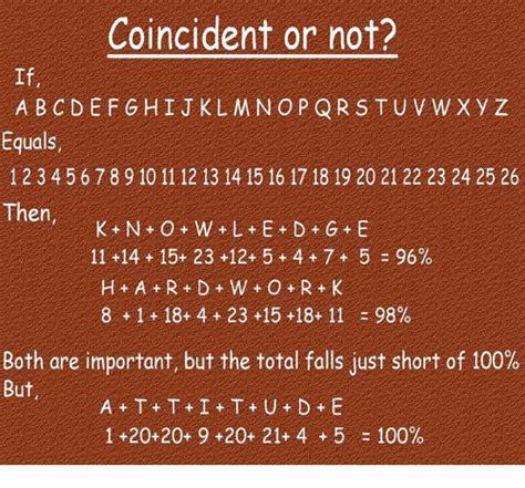 Coincident or Not? A B C DE F G H I J KL M N O P Q R S T U