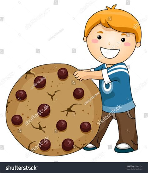 chip cookies clipart vector boy chocolate chip cookie vector stock vector 47802274 Chocolate