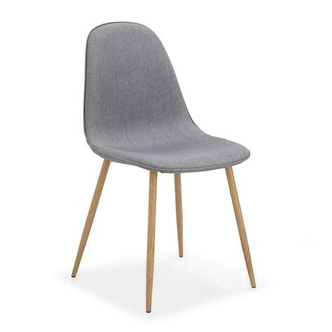 charni鑽e meuble cuisine chaise revêtue tissu gris meubles salle à manger et cuisine chaises décoration intérieur alinéa