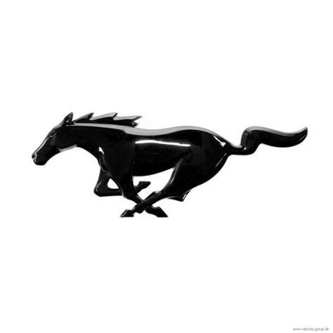 ford emblem schwarz 15 18 ford mustang emblem heckklappe running pony schwarz gl 228 nzend