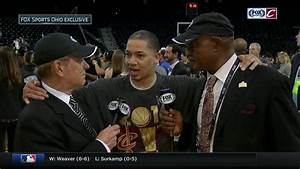 Tyronn Lue talks with Fred McLeod and Austin Carr after ...