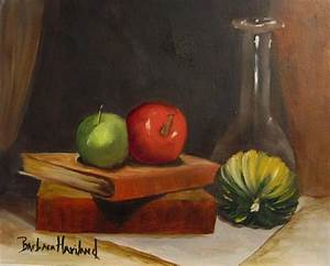 Apples,Books and Glass Still life - by Barbara Haviland ...