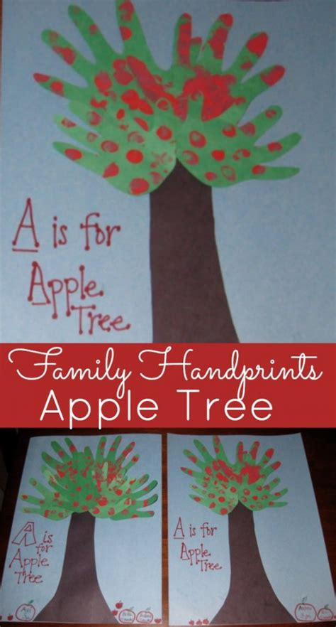 kids handprint craft    apple tree