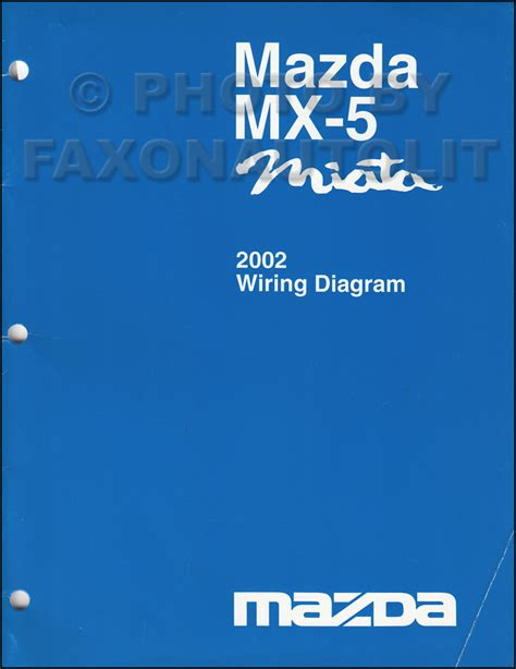 2002 mazda mx 5 miata wiring diagram manual original