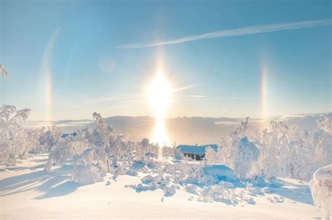 Incredibly Rare Ice Rainbows Formed Sunlight Frost