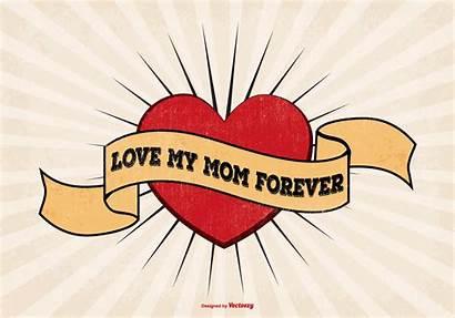 Mom Tattoo Vector Illustration Svg Stencil Forever