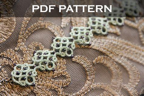 tatting lace bracelet  pattern medieval tile