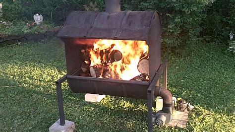 homemade forced draft burner youtube