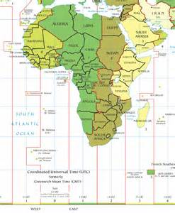 Africa Time Zone Map