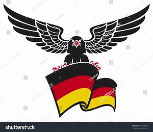 Black Eagle With The German Flag (Black Eagle Holding The ...