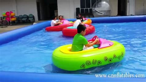 Boat Bumpers Inflatable by Water Bumper Boat In Inflatable Pool From Cz Inflatables