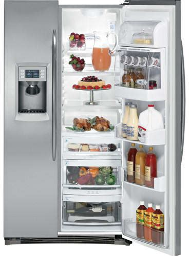 ge pshpswss  cu ft counter depth side  side refrigerator   glass shelves