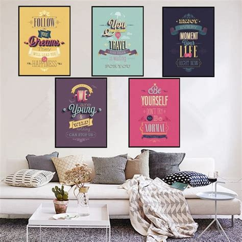 living room wall decor  vintage lifestyle posters