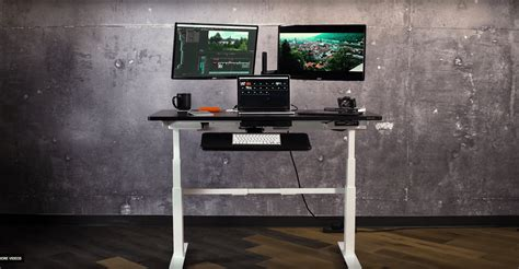 ergonomic standing adjustable sit stand desk accessories standdesk