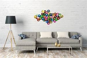 Wanddeko Metall Abstrakt : wanddeko metall 39 bunt lila kreise abstrakt 39 wandskulptur wandobjekt 67x126x7cm ebay ~ Whattoseeinmadrid.com Haus und Dekorationen