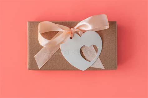 background  brown ribbon  kraft paper stock photo