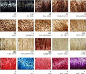 Complete Hair Extensions Color Chart (Color Palette Guide)