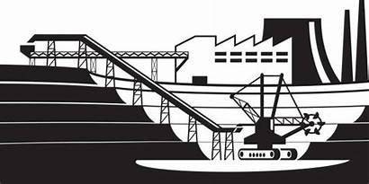 Pit Open Conveyor Vector Illustration Mine Clip