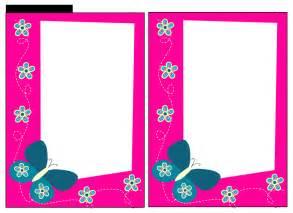 Pink Baby Shower Invitation Border