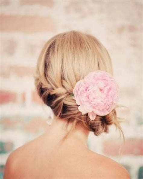 braided wedding side bun hairstyle
