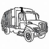 Garbage Truck Coloring Pages Dump Clip Clipart Trash Ford Snow Plow Outline Semi Draw Trucks Drawing Sanitation Diesel Cliparts Toy sketch template
