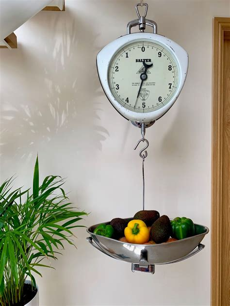 vintage hanging grocers weighing scales antique