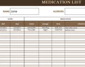 medication card template free medication administration record template excel