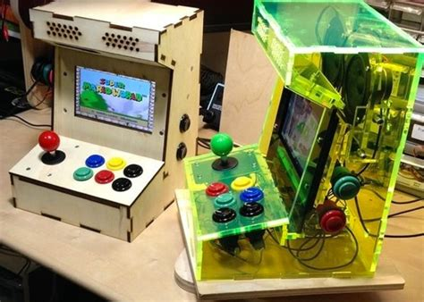 raspberry pi mini games arcade cabinet kit available from