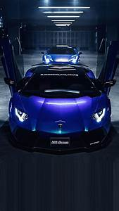 Blue Lamborghini theme iPhone 6 Wallpaper   HD iPhone 6 ...