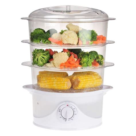 steamer cuisine kalorik 9 5 qt food steamer dg 33761 the home depot