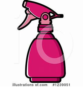 Spray Bottle Clipart #1239051 - Illustration by Lal Perera
