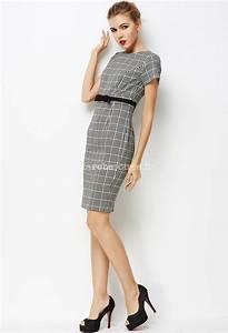 robe tailleur a carreaux noir et blanc With jupe a carreaux noir et blanc