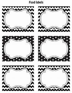 Happy Friday!! FREE Printable food labels!