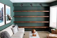 how to build wall shelves Thick Wood Wall Shelves