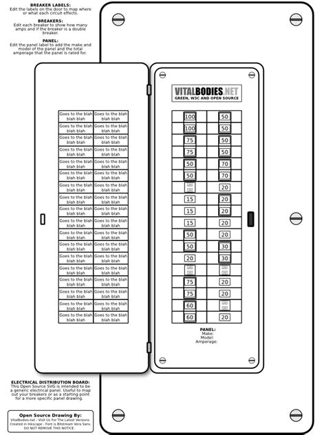 electrical panel labels template electric fuse box template electric get free image about