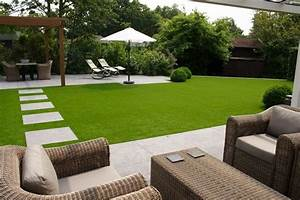 comment poser la pelouse synthetique guide et photos With amenagement jardin sans pelouse 16 dalle terrasse gazon synthetique