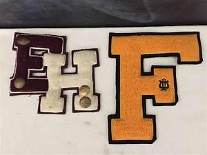 varsity letter patch vintage college letter high school With high school varsity letter pins