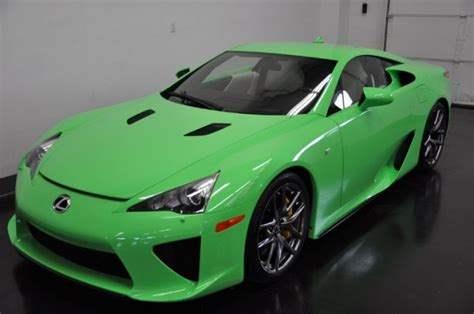 Here's Your Chance To Buy The Only Fresh Green Lexus Lfa