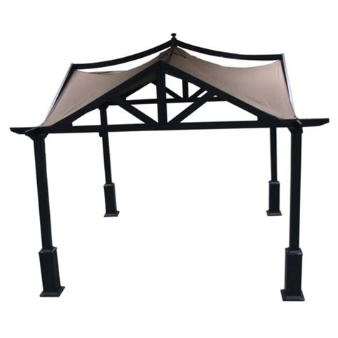 allen and roth gazebo allen roth 10 x 10 asian style garden gazebo from lowes