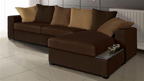 canapé d angle en cuir marron canapé d 39 angle en tissu marron canapé pas cher
