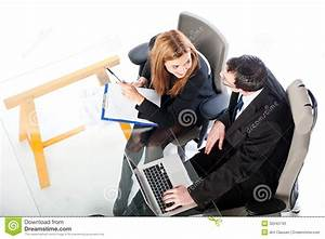Young Business People Working On Laptop Together Stock ...