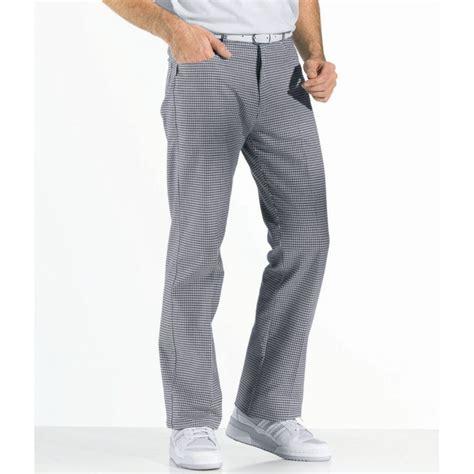 cuisine jean pantalon de cuisine forme jean peut bouillir résistant au chlore noir et blanc