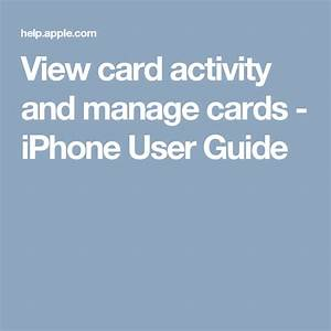 View Card Activity And Manage Cards
