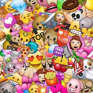 Photo Collection Emoji Home Screen Wallpaper