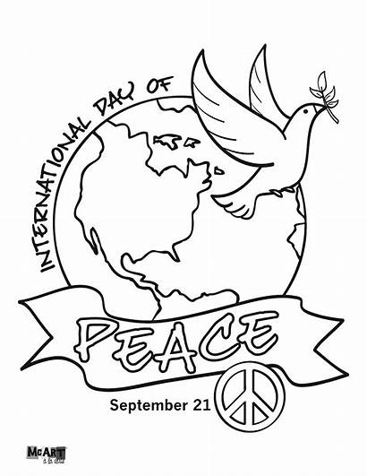 Peace Coloring International Pages Activities Crafts Drawing